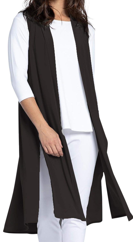 Black Sympli Womens Go to Vest Long Style 21157L