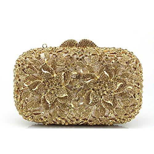 Banquet Hollow à Diamant Main Mini à Carré Femme Bandoulière Soirée Sac Petit Sac De Poignée gold Sac Sac zrrxgw