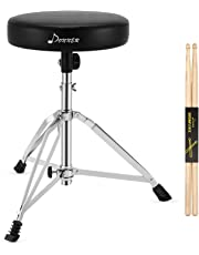 Donner Drum Throne Stool Upgraded, Padded Drum Seat Rotatable Height Adjustable drumming Stools for Kids and Adult