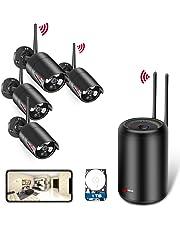 ANRAN 1080P Kit Cámaras de Vigilancia WiFi Exterior 2MP Sistemas de Vigilancia WiFi NVR 4CH 4 Cámaras de Vigilancia Seguridad 1TB HDD para Sistema CCTV WiFi Visión Nocturna Detcción de Movimiento