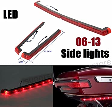 Black Lugagge Rack+Red Taillight TCMT King Pack Pak Trunk W//Brake Tail Light Fit For Harley Touring Models Road King Road Glide Street Glide Electra Glide Ultra-Classic 2014-2020
