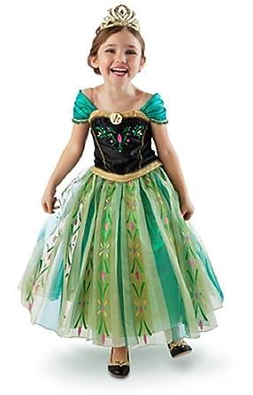 Frozen Anna Elsa Deluxe Girlu0027s Costume Enchanting Dress (Age 2-3 Anna -  sc 1 st  Amazon UK & Frozen Anna Elsa Deluxe Girlu0027s Costume Enchanting Dress (Age 2-3 ...