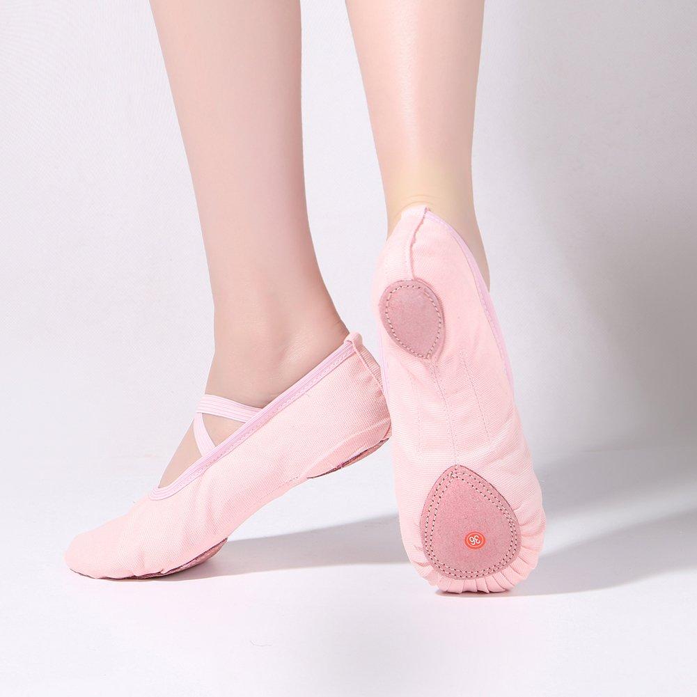 Zkyo Femme Ballet Chaussures Fille Plate Toile Ballerines Classique Danse  Pilates Gymnastique Yoga Chaussons 6791414448d