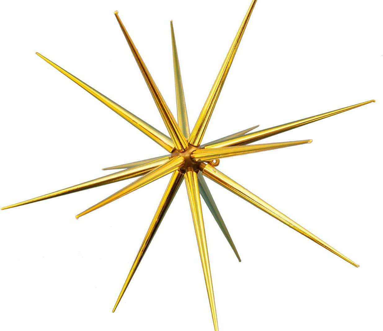 8'' Christmas Star Ornament Gold Plastic Hanging Tree Decoration Party Holiday Starbursts