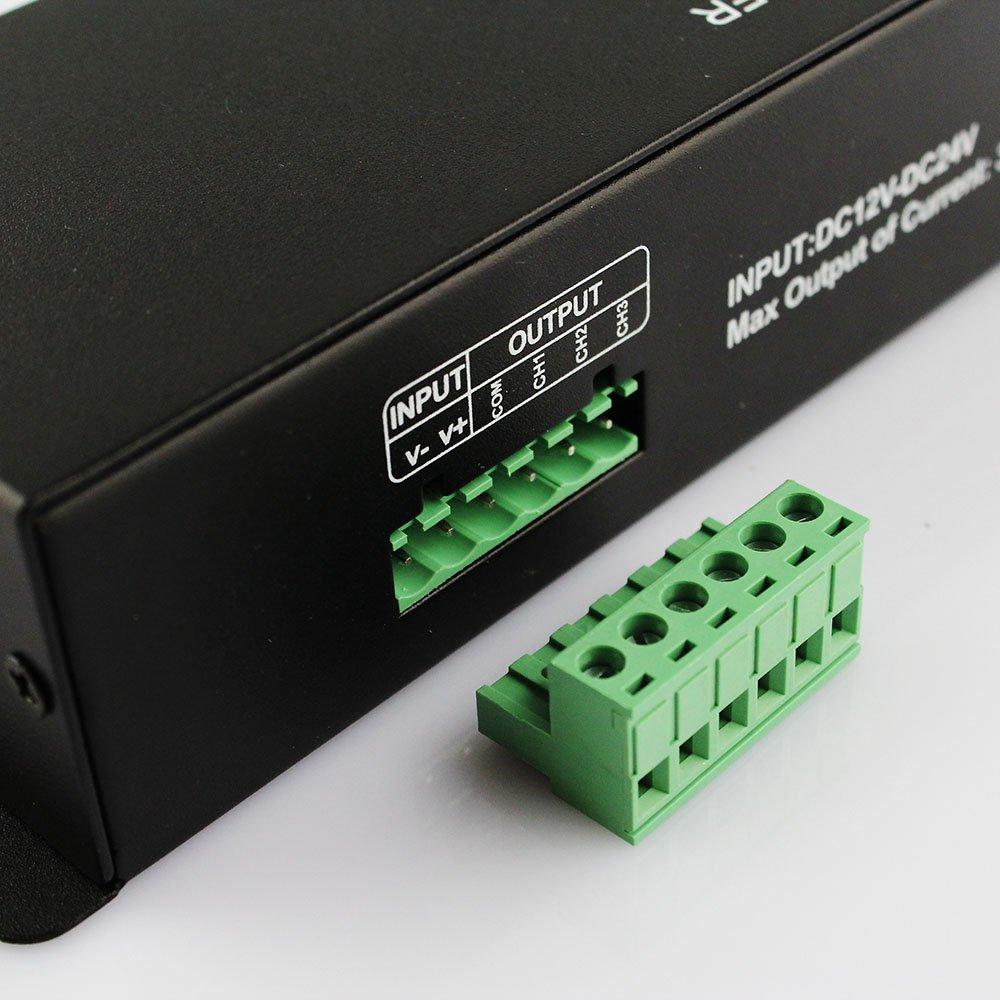 LEDJump DMX512 4A 3 Channels Decoder Controller Dimmer for RGB LED Light Strip DC12V-24V DMX 512 by LEDJUMP (Image #5)