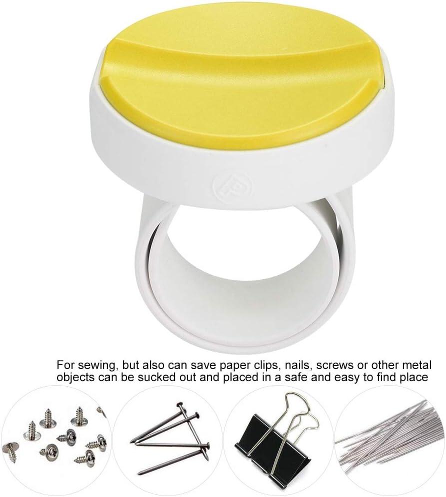 Yellow Josopa Magnetic Pin Cushion Sewing Storage Case Wrist Clip Screw Knitting Magnet Needle Box