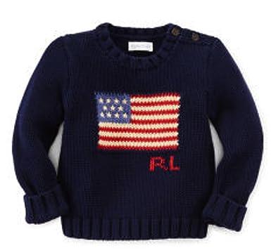 e0e156c3944a6 Amazon.com  Ralph Lauren Baby Boys  Cotton Flag Sweater Size 3M (3 ...