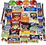 Blue Ribbon Care Package 45 Count Ultimate Sampler Mixed Bars, Cookies, Chips, Candy Snacks Box for Office, Meetings, Schools, Friends & Family,...