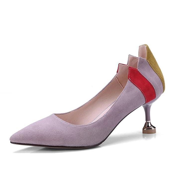 Flache Schuhe Schwangere Frauen Runden Kopf Urlaub Schuhe, 37 EU, Rosa Lila XZGC