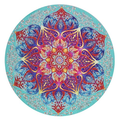 Price comparison product image Usstore 1PC Round Mandala Wall Hanging Home Shower Beach Towel Swimwear Bathing Suit Wall Hanging Bedspread tablecloth Cloth Yoga Mat Throw Decor (F)