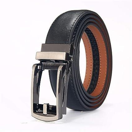 Hukangyu1231 Cinturon de Hombre Cinturón Reversible para Hombre Cinturón de  Cuero Informal marrón y Negro con 641587912333