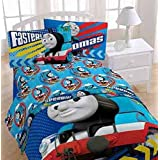 4pc Thomas the Train Full Bed Sheet Set Faster Tank Engine Bedding Accessories by Thomas the Tank Engine