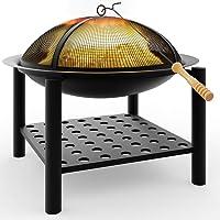Feuerstelle schwarz XXL Stahl Fire Pit ✔ rund