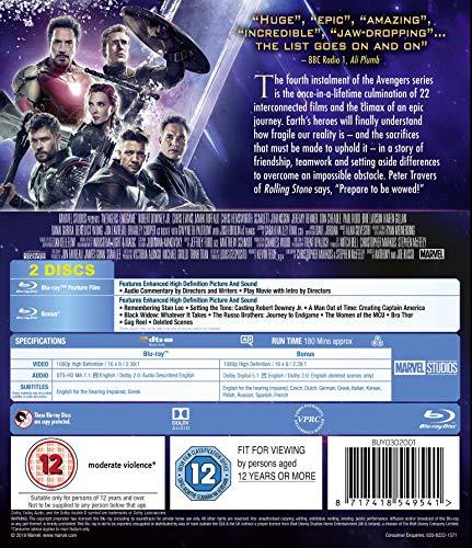 Avengers Endgame [Blu-ray] [2019] [Region Free]