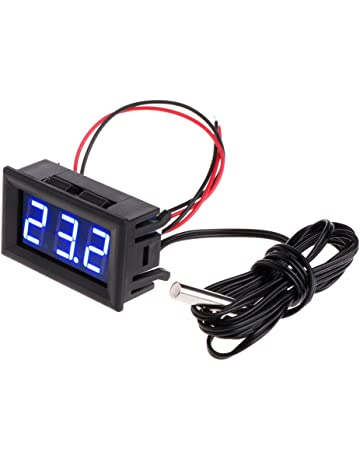 Chiic DC 12 V Termómetro Digital Monitor de Temperatura -50~110 ° C Integrado