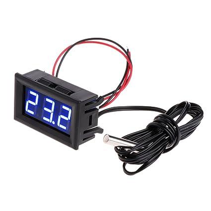 Longsw - Termómetro Digital LED para Monitor de Temperatura del Coche (-50~110