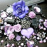 Beading Station BSI 3D DIY Bling Bling Cell Phone Case Resin Flat Back Kawaii Cabochons Decoration Kit/Set, Lavender