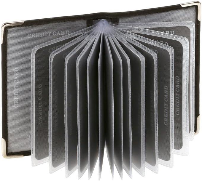 LEAS Tarjetero para tarjetas de crédito, Piel auténtica, negro Card-Collection''
