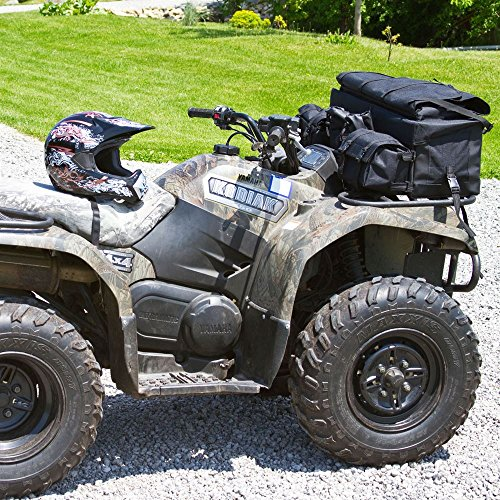 Black Widow Rage Powersports ATV-FRBG-9010 ATV Cargo Rack Gear Bag with 57'' Soft Rifle Case (Front) by Black Widow (Image #3)