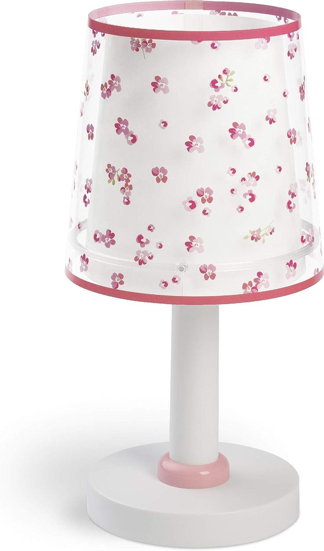 81171S Dalber Kinder Tischlampe Nachttischlampe Blumen Rose