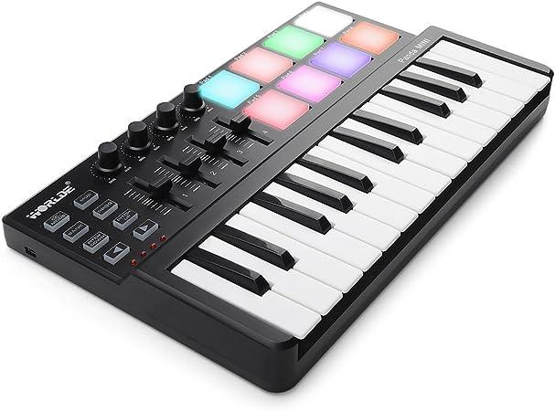 Vangoa Panda Mini portátil 25 teclas USB teclado MIDI ...