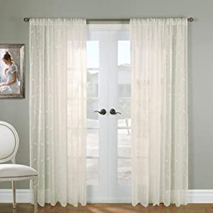 Commonwealth Home Fashions Hathaway Tailored Panel, Cream, 54 x 84