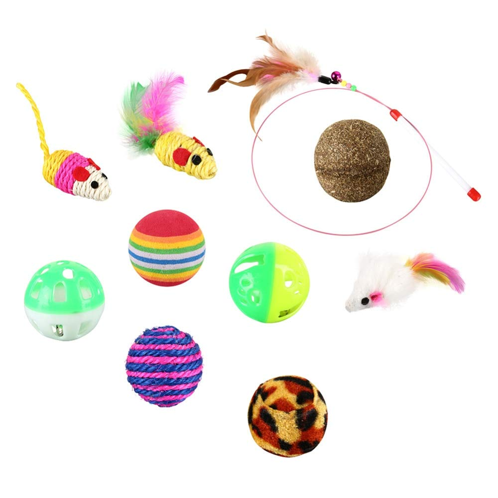 Amazon.com : Best Quality 12pcs /lot Variety Small Mini Playing Mouse Toys Gift for Cats Dogs Kitten Value pet Toys Packs Mouse Ball Socks : Pet Supplies
