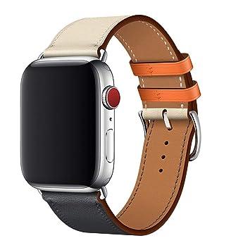 iStrap Compatible para Apple Watch Correa Cuero para Pulsera ...