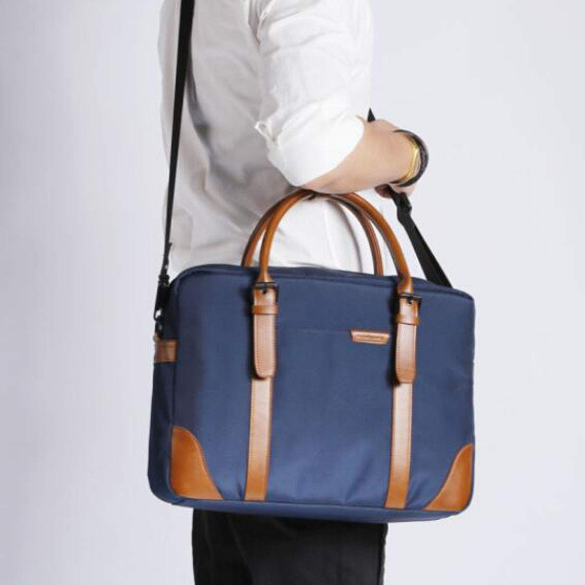 Business Travel Bag Size: 38927cm Quality Assured Color : Blue 14-inch Computer Bag Yougou01 Briefcase