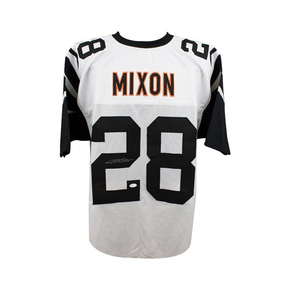 bce5cb2a09e Joe Mixon Autographed Cincinnati Bengals Custom Color Rush Football Jersey  - JSA SCC