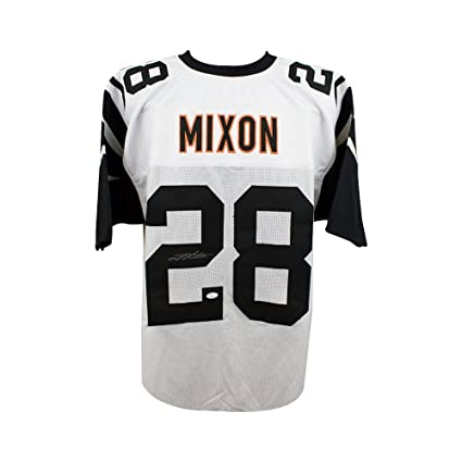Joe Mixon Autographed Cincinnati Bengals Custom Color Rush Football Jersey  - JSA 740a6411c