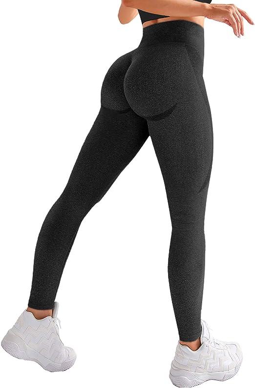Damen Yoga Hose Fitness Push Up Leggings Nahtlos Hohe Taille Laufhosen Leggins
