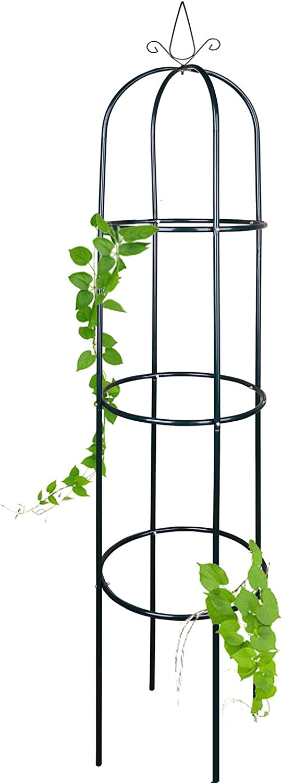 Rankger/üst 1//2er Set 40 x 40 x 200 cm Anaterra Rosenturm Rankturm aus Metall Rankhilfe f/ür Pflanzen 1 St/ück