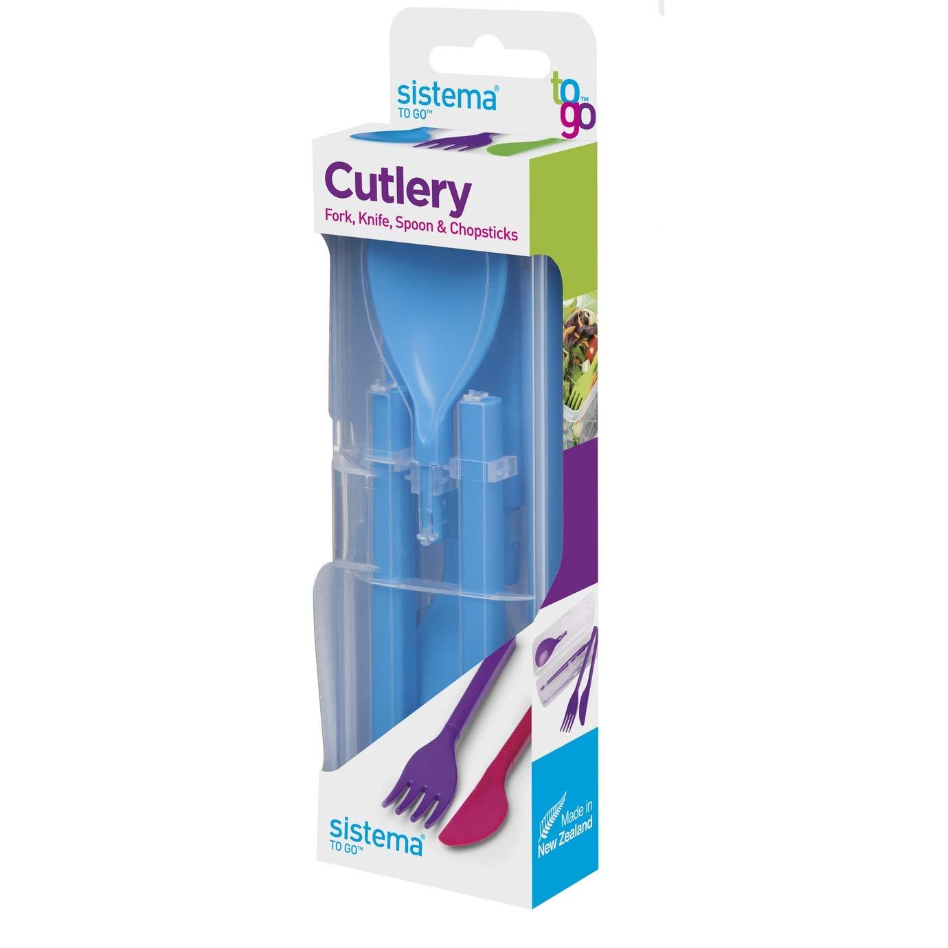 Sistema To Go Cutlery Set - Reusable - Blue
