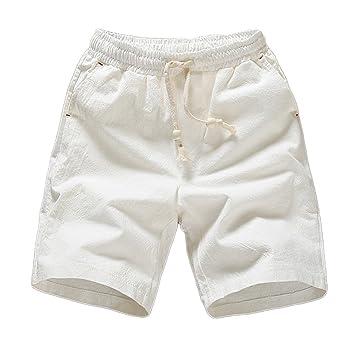77eda7c6d3 Guiran Pantalón Corto para Hombre Pantalones Cortos De Deportivos Chinos  Bermudas Shorts Blanco 3XL  Amazon.es  Deportes y aire libre