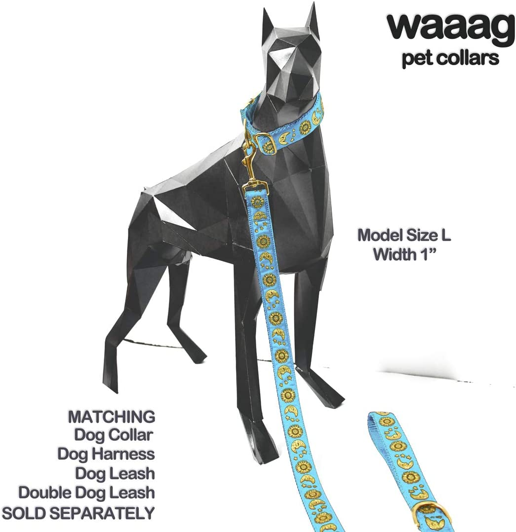Moons Stars Suns Dog Collar XS 7-11 Neck waaag Pet Collar Multiple Designs Crescent Celestial Dog Collar Hound Collar Cat Collar
