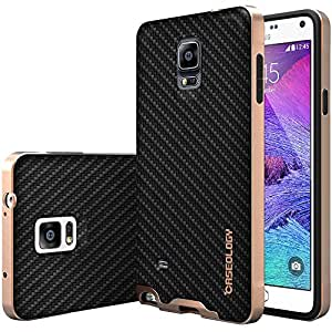 Galaxy Note 4 Case, Caseology [Envoy Series] Classic Rich Texture Leather [Carbon Fiber Black] [Luxury Slim] for Samsung Galaxy Note 4