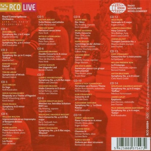 Anthology Live 1970-80: Royal Concertgebouw