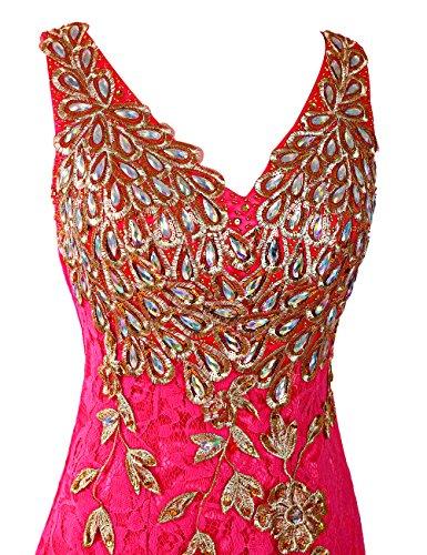 Dresstells®Vestido de Fiesta Largo Elegante Sirena de Tul Encaje Verde
