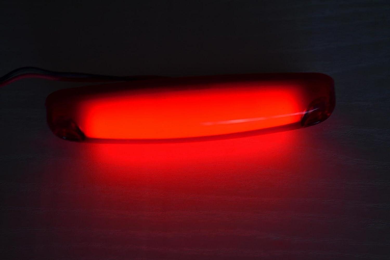 10/pi/èces LED Neon Rouge 12/V 24/V partie arri/ère Outline Marker lumi/ères Lampes Ch/âssis de remorque Camion caravane en forme de doigt