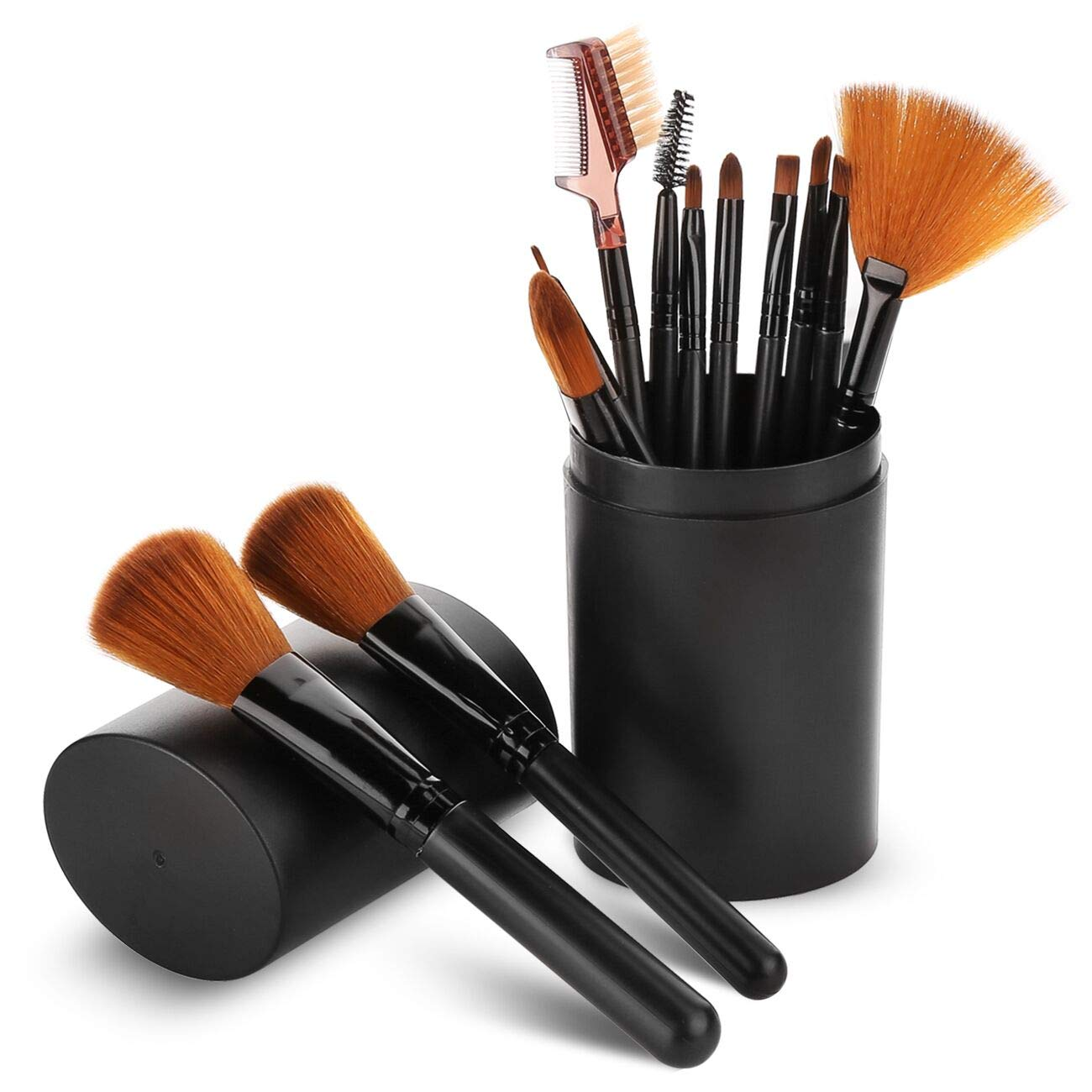 Makeup Brush Sets - 12 Pcs Makeup Brushes with Case Best for Foundation Eyeshadow Eyebrow Eyeliner Blush Powder Concealer Contour