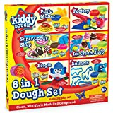 play dough 20 - KIDDY DOUGH Deluxe Mega Dough Set Includes 12 2oz Dough Cans - Pasta Factory, Candy Shop, Factory Playset, Ice Cream Shop, Animal Dough Cutters a Other Popular Modeling Tool Sets - Ages 6+