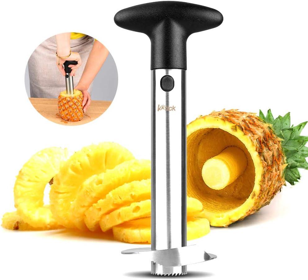 Kktick - Descorazonador de piña para cortar anillos de fruta con ...