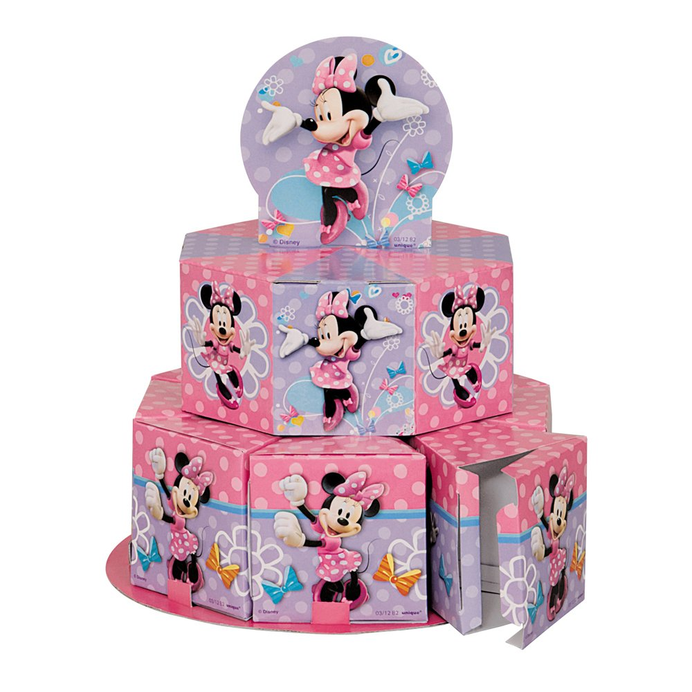 Amazoncom Minnie Mouse Favor Box Centerpiece Decoration for 8