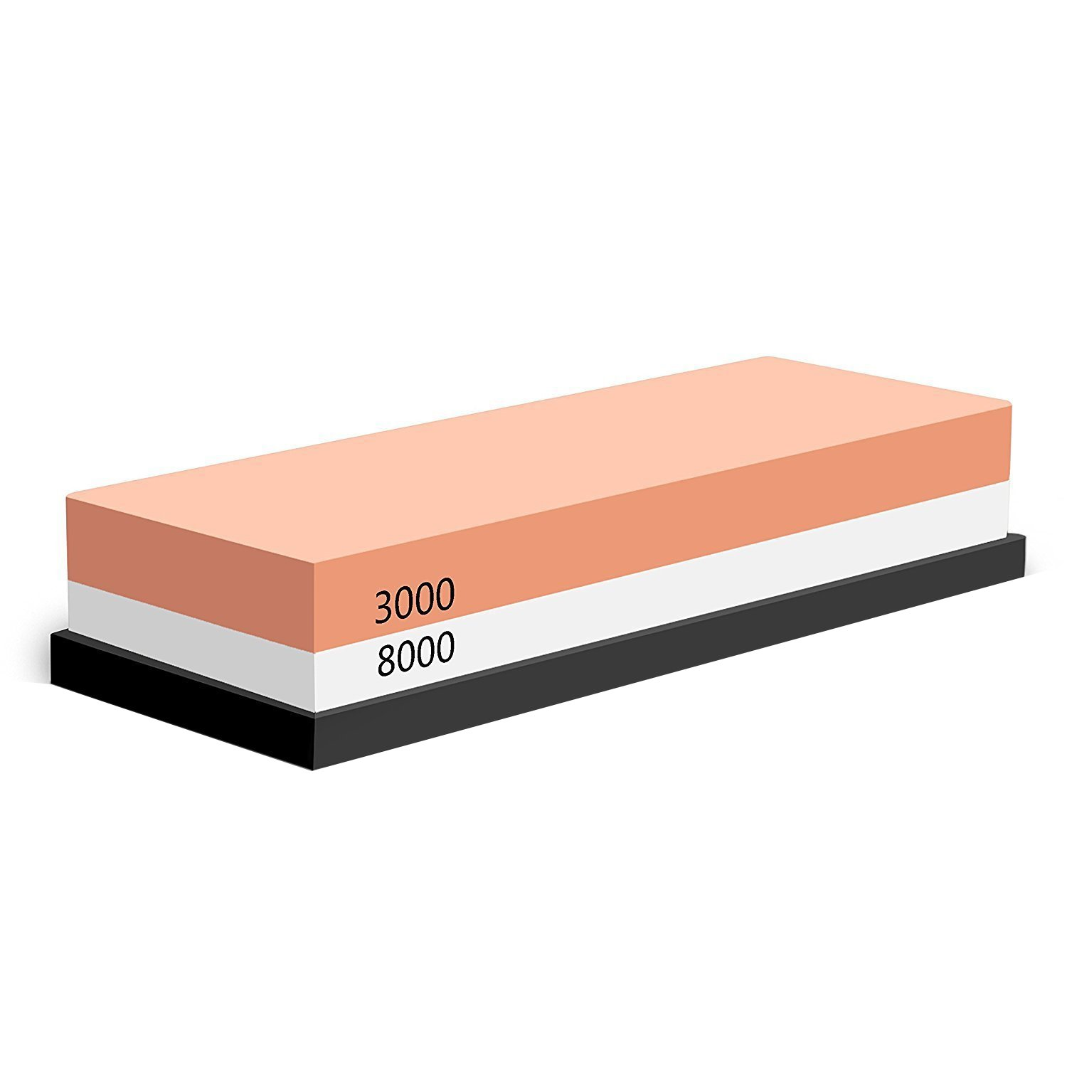 Whetstone POMEX Knife Sharpening Stone for Knives,2 Sided 3000/8000 Grit waterstone with Rubber Non-Slip Base