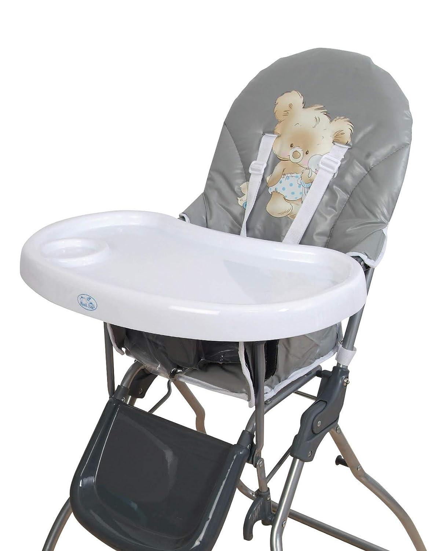 Trona para bebe plegable,bandeja extraible,modelo osito gris, silla bebé.DE REGALO BIBERON: Amazon.es: Bebé