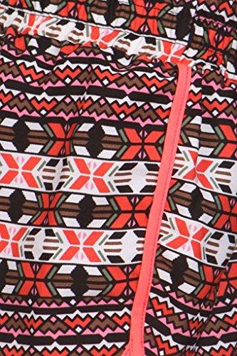 Spiaggia Pantaloncini Donna Colore Simplicity Stampa 709 Al Neon Con L Da Misto Estivi qO6ExAF