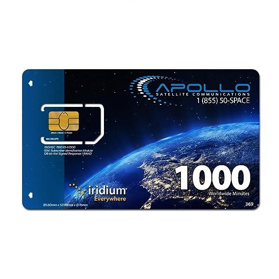 Amazon.com: Iridium pre-paid 1000 Minuto, 2 Año Tarjeta SIM ...