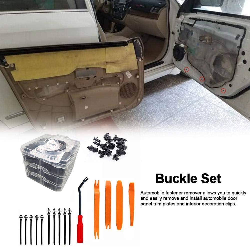 Rubyu 425 PCS Rivet Clips Plastique Rivets Plastiques Fixation de Protection Universel pour Auto Voitures Panneaux de Portes avec Bo/îte De Rangement et Outil Installation