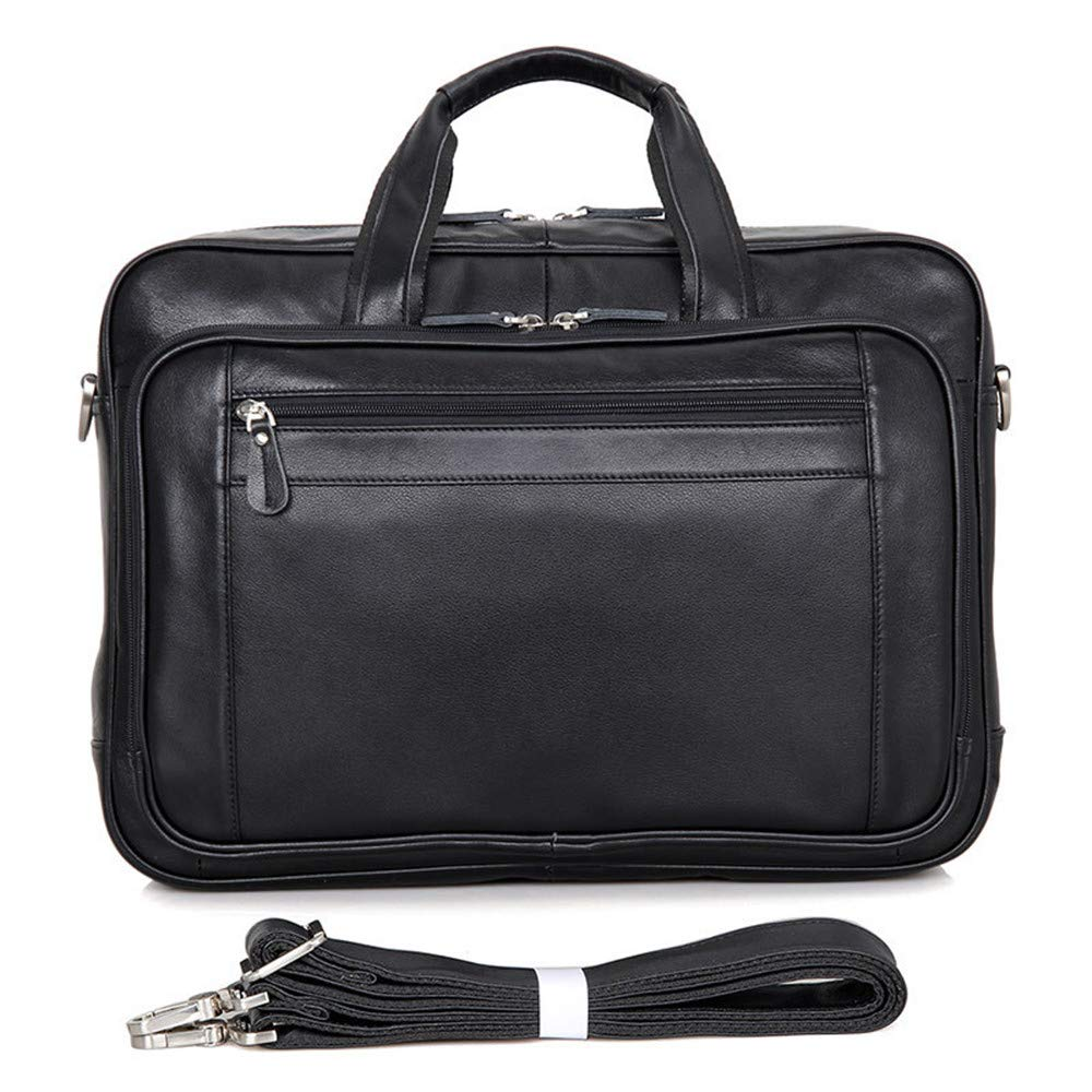 Black 42.5x14x31.5cm Briefcase MLMHLMR Mens Bag Business Bag Leather Briefcase Large Tote 17 Computer Bag